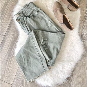 Amuse Society | Green Hight Waisted Jeans